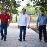 Agradece alcalde a Cuitláhuac García y Gómez Cazarín por obras en Catemaco