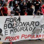 Protestan Brasileños, piden la destitución del Presidente Jair Bolsonaro