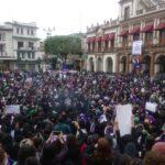 Mujeres se manifiestan en Xalapa por el 8M
