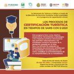 """Durante marzo, participa en la capacitación virtual """"Procesos de certificación turística en tiempos del SARS-CoV-2"""""""