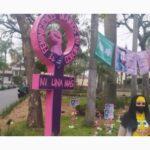 Colocan antimonumenta en Orizaba para exigir alto a feminicidios en Veracruz