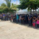 Resguardan a 178 migrantes al sur de Veracruz